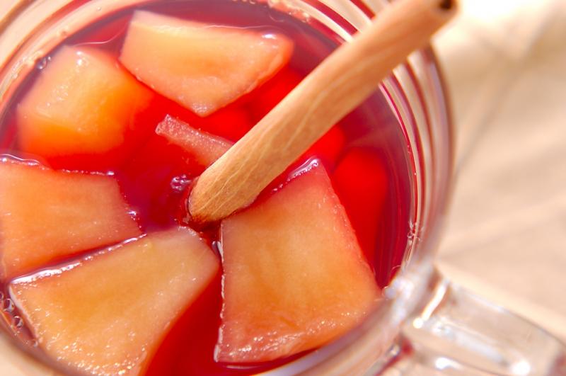 リンゴのワイン煮ゼリー