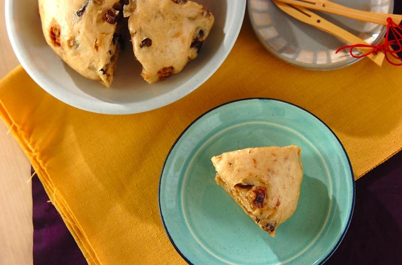クルミと黒糖の大きな蒸しパンの作り方の手順