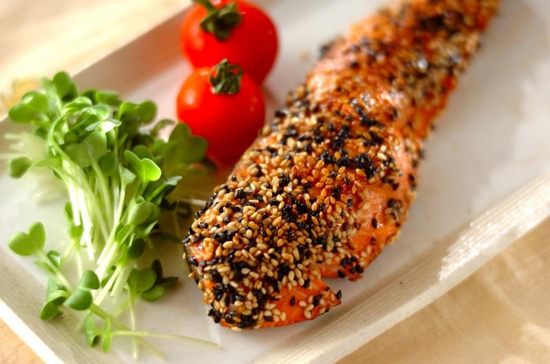 鮭の香ばしゴマ焼きの作り方の手順