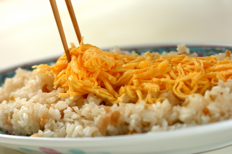 ホタテの中華風ちらし寿司の作り方の手順6