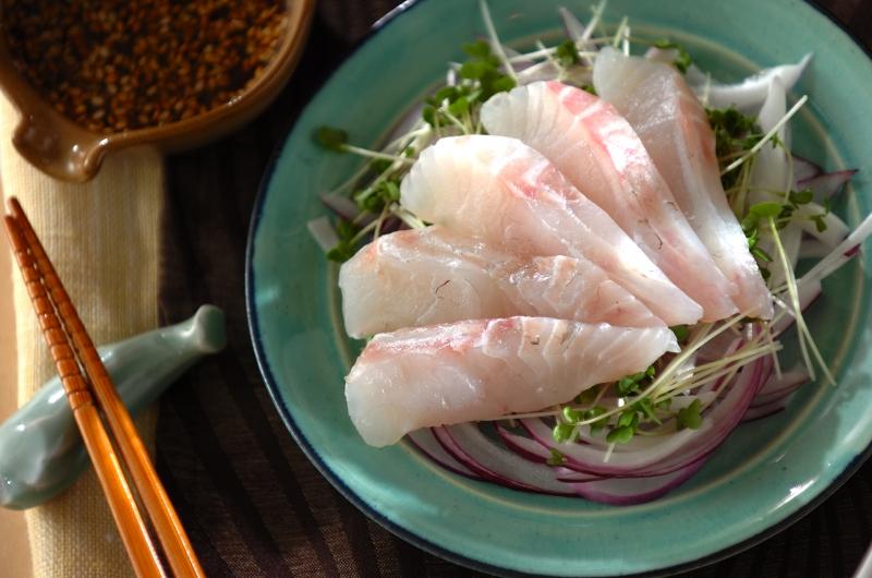 お刺身サラダの卵黄ソース