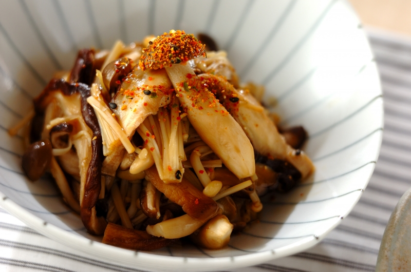 キノコの当座煮の作り方の手順