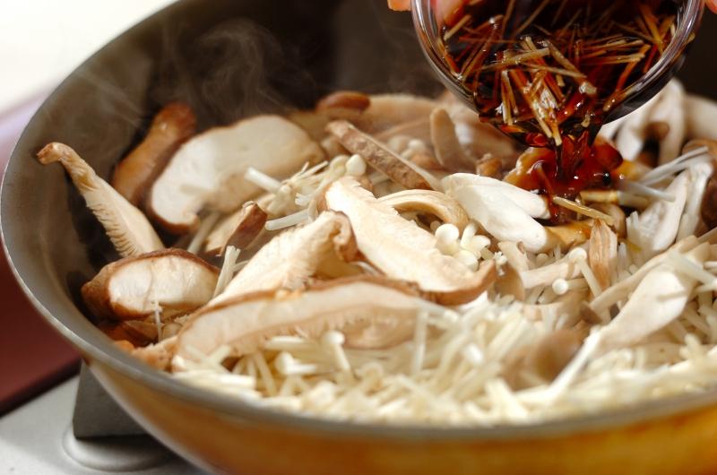 キノコの当座煮の作り方の手順3