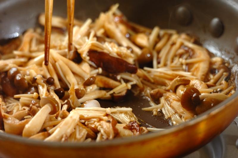 キノコの当座煮の作り方の手順4
