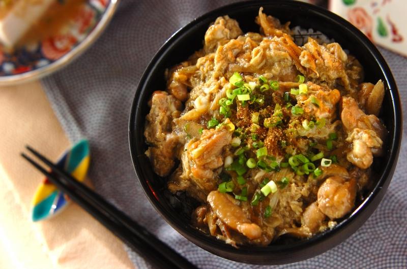 鶏ゴボウ丼の作り方の手順