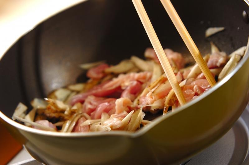 鶏ゴボウ丼の作り方の手順4