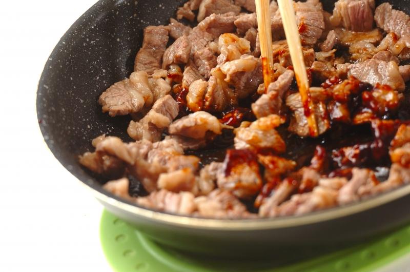 牛肉のナムル丼の作り方の手順4