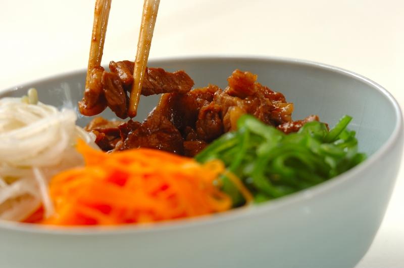 牛肉のナムル丼の作り方の手順5