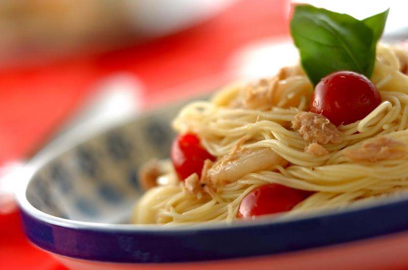 さっぱり!トマトとホタテの冷製カッペリーニ