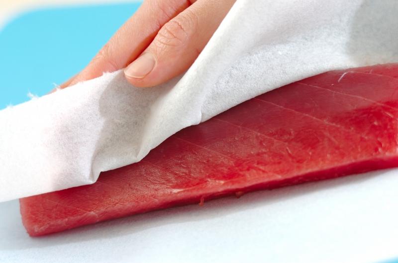 鉄火おぼろ豆腐丼の作り方の手順1