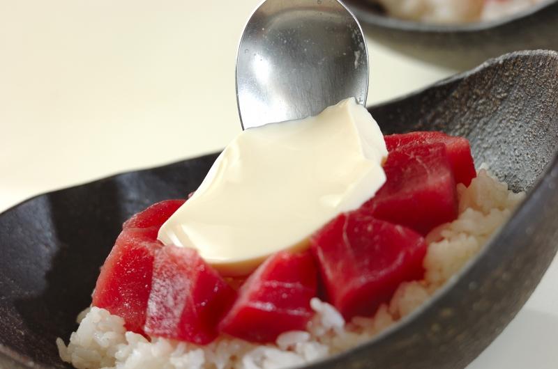 鉄火おぼろ豆腐丼の作り方の手順4
