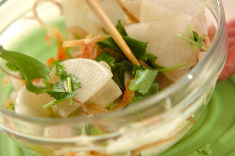 大根とミョウガの酢の物の作り方の手順6