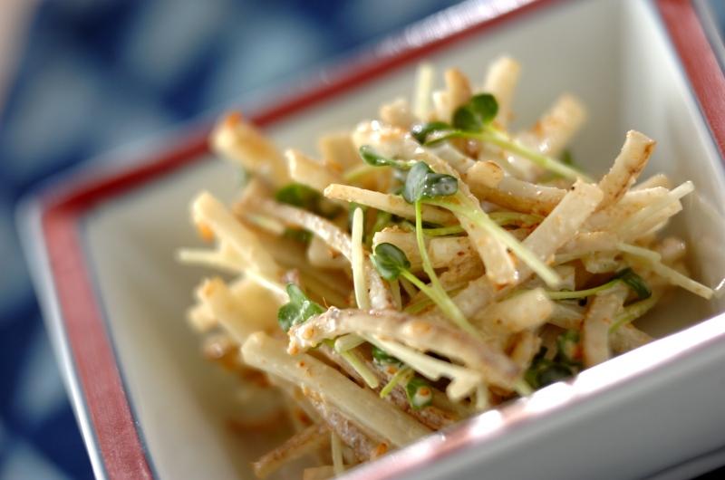 さっぱり副菜!ゴボウサラダの作り方の手順
