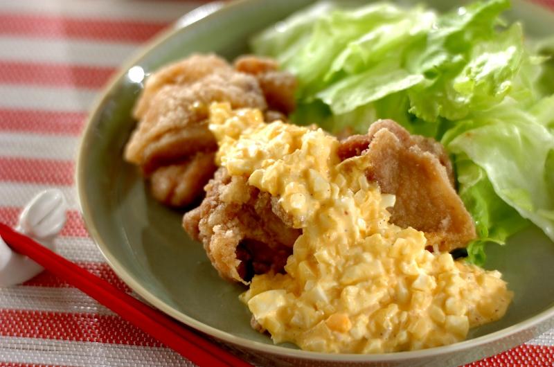 鶏の唐揚げタルタルソースかけの作り方の手順