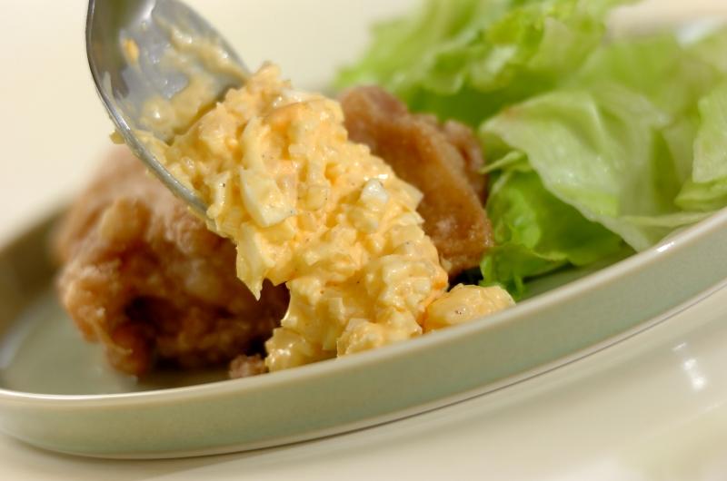 鶏の唐揚げタルタルソースかけの作り方2