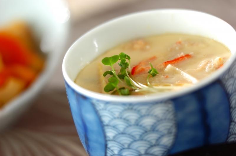 中華カニ玉風茶碗蒸しの作り方の手順