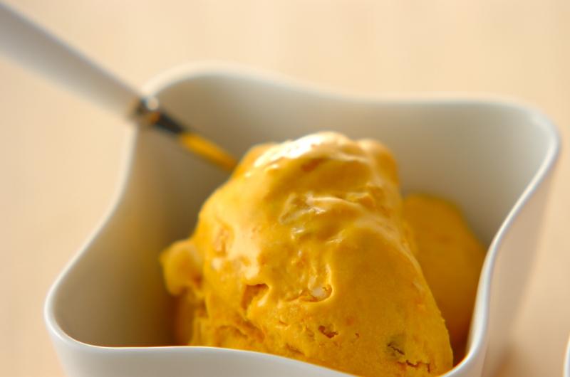 カボチャアイスクリームの作り方の手順