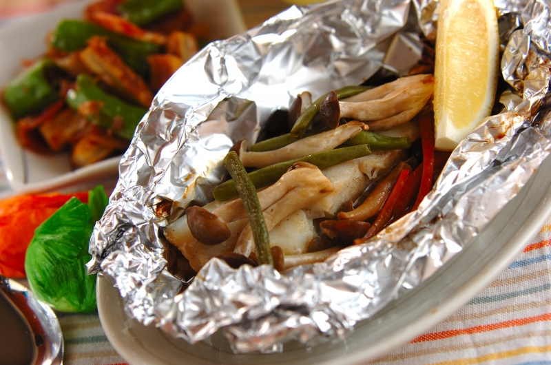 魚のホイルバター焼きの作り方の手順