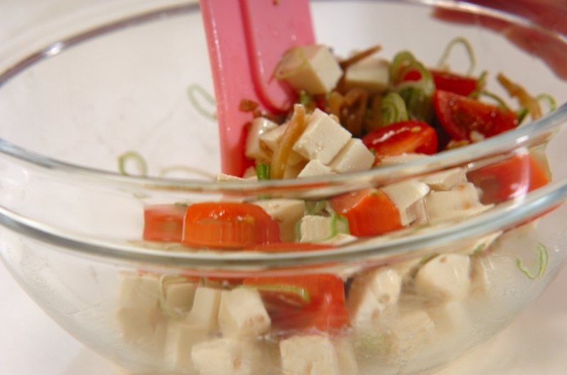 豆腐とザーサイの和え物の作り方の手順2