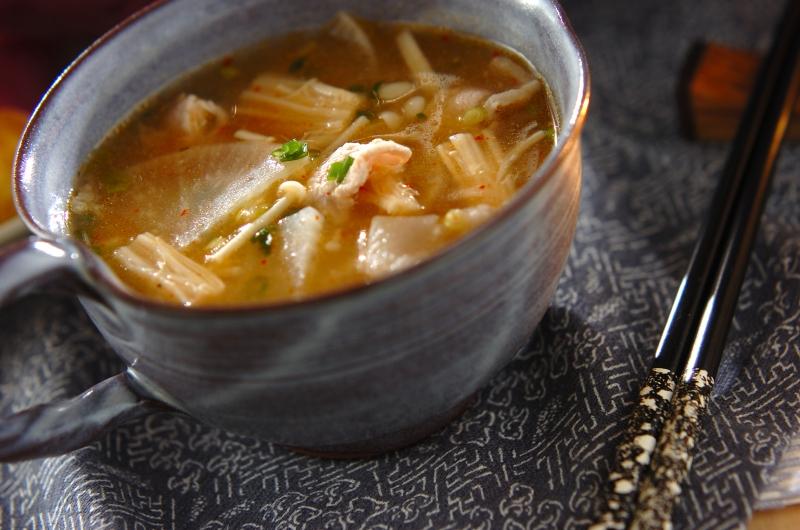 キムチと豚肉のスープ