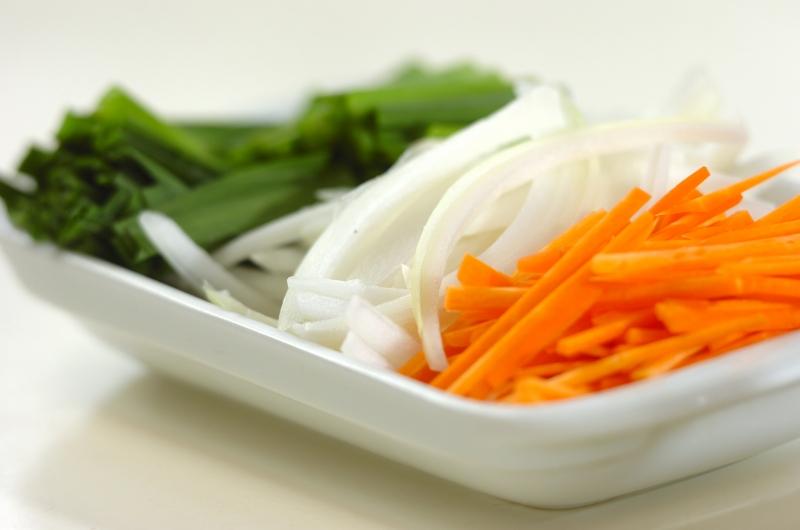 素麺のチャプチェ風の作り方の手順2