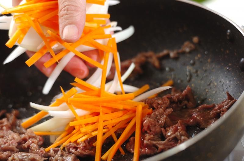 素麺のチャプチェ風の作り方の手順4