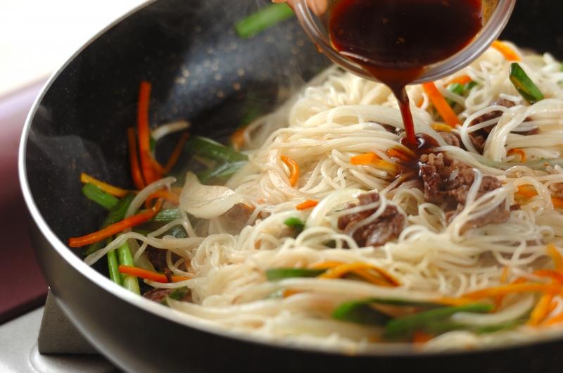 素麺のチャプチェ風の作り方の手順5