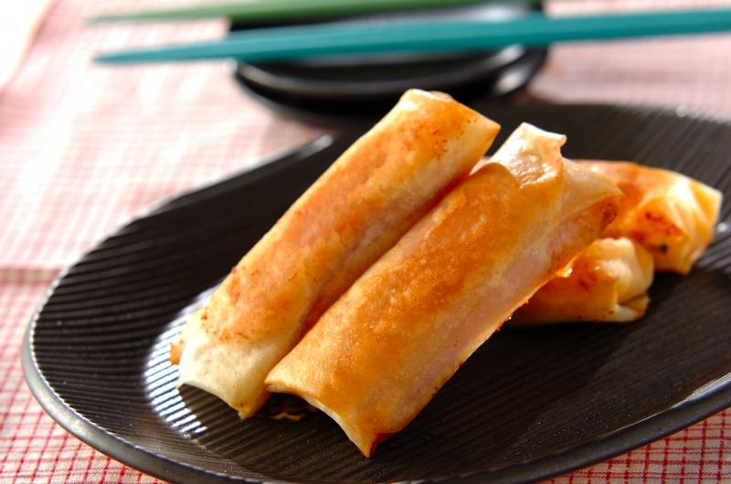 キムチーズ餅春巻き