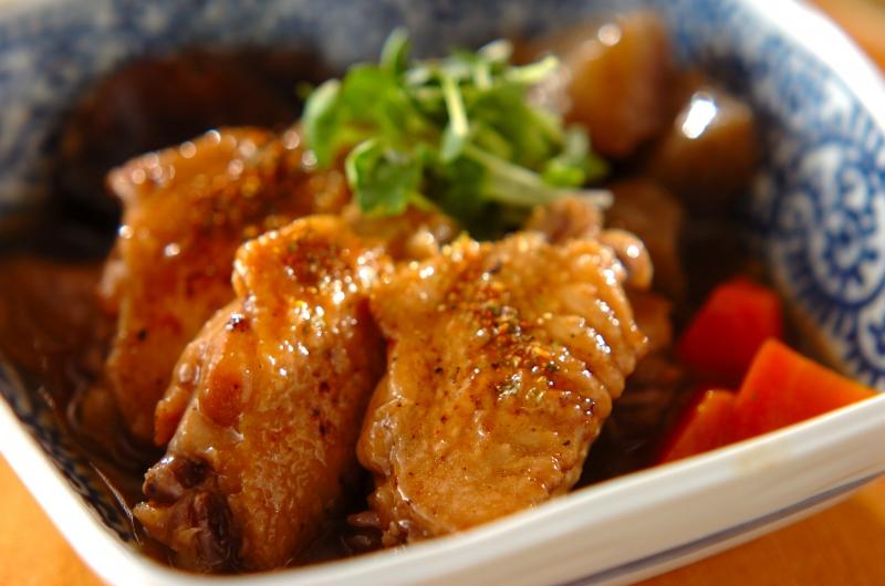鶏手羽の煮物の作り方の手順