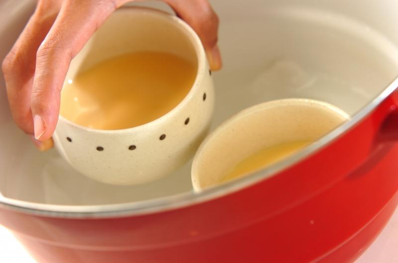 黒蜜の豆乳プリンの作り方の手順2
