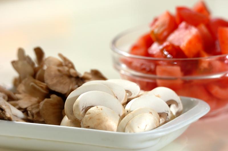 トマトソースのキノコペンネの作り方の手順2
