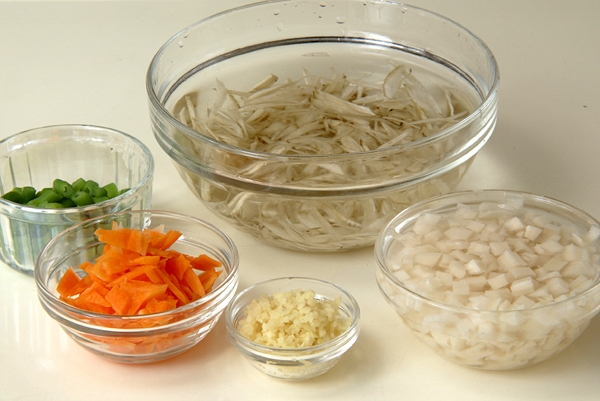 ゴボウの炊き込みご飯の作り方の手順3