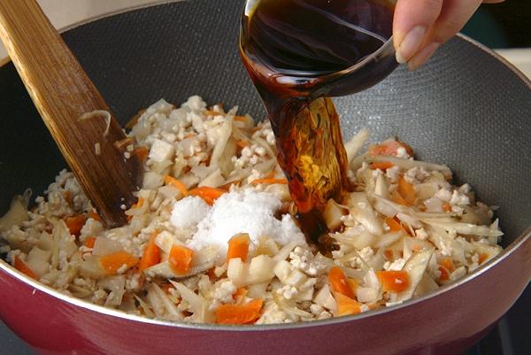 ゴボウの炊き込みご飯の作り方の手順7