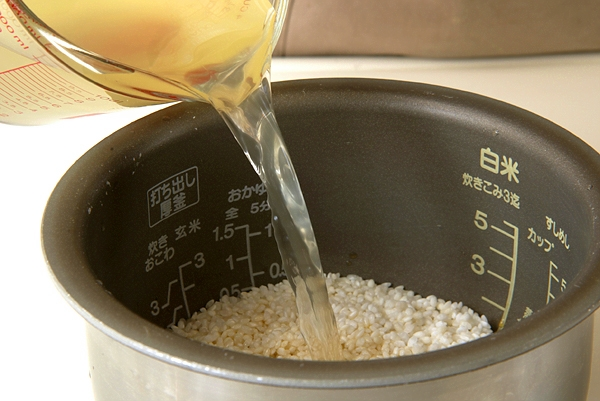 ゴボウの炊き込みご飯の作り方の手順9