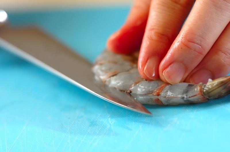 エビと豆腐のチリソースの献立の作り方の手順1
