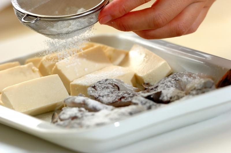 エビと豆腐のチリソースの献立の作り方の手順4