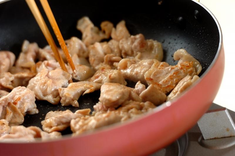 豚肉の甘辛炒めの作り方1