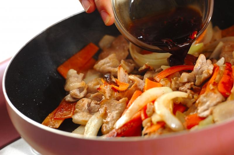 豚肉の甘辛炒めの作り方の手順4