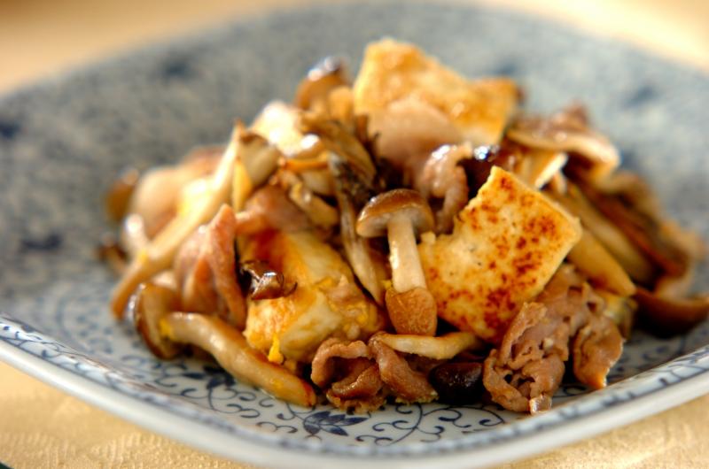 キノコと豆腐のチャンプルー