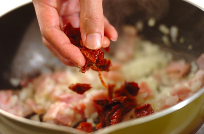 ドライトマトとグリーンオリーブのケークサレの作り方の手順3
