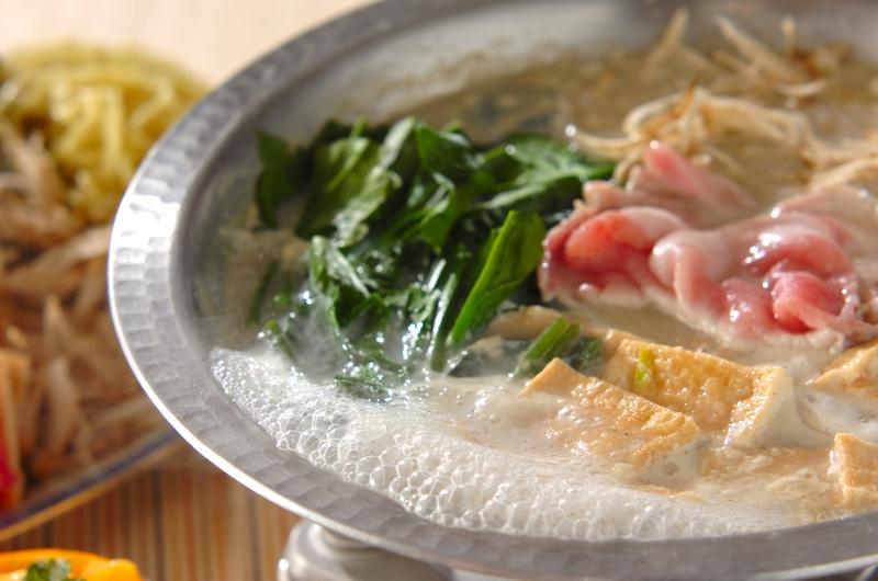豚肉の豆乳中華鍋