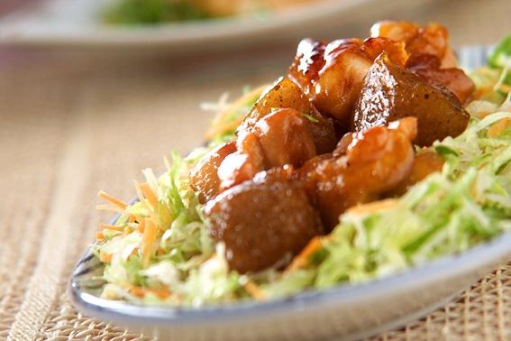 鶏コンニャクの甘辛煮