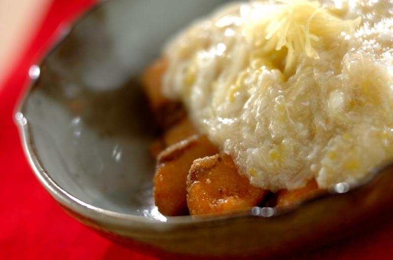 揚げ魚の白菜あんかけショウガ風味