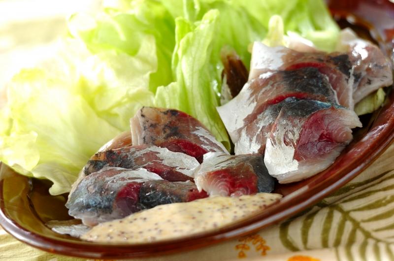 アジの酢漬けサラダ