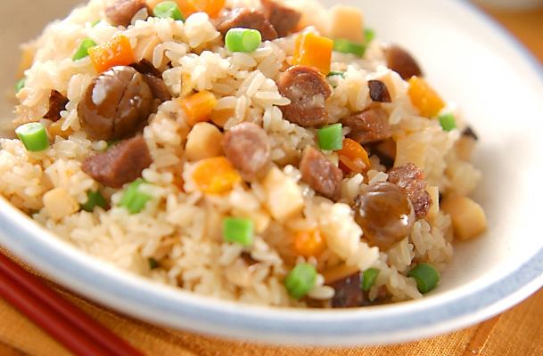 中華風炊き込みおこわの作り方の手順