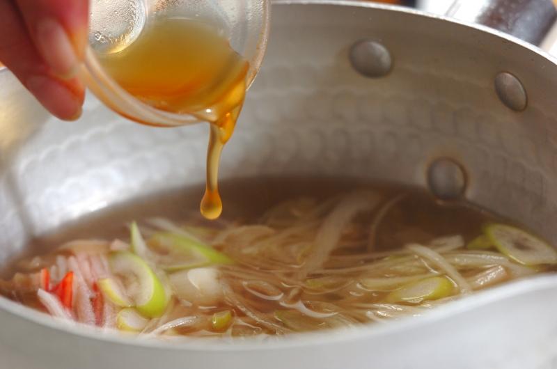 白ネギの中華スープの作り方の手順2