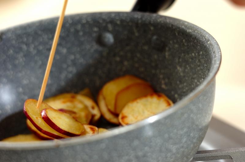 サツマイモのユズコショウ炒めの作り方2