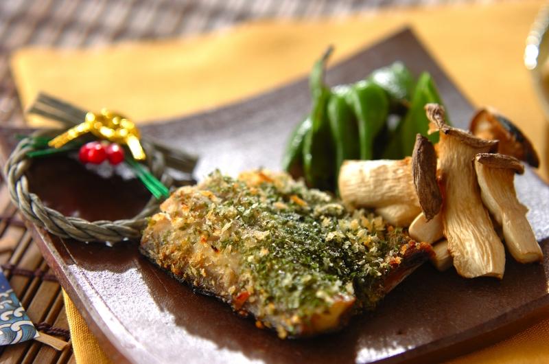 塩サバのサクサク磯辺焼き~焼き野菜添え~