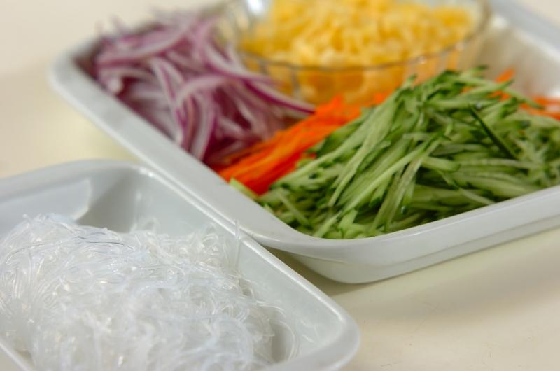 タイ風春雨サラダ・パイナップルソースの作り方の手順1
