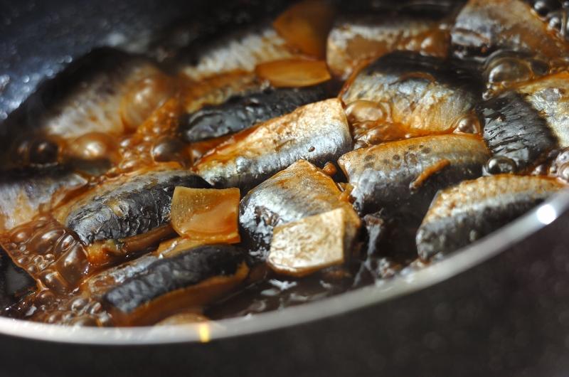 和食の定番 イワシのショウガ煮の作り方の手順4